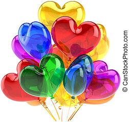 αγάπη , μπαλόνι , μορφή , πάρτυ
