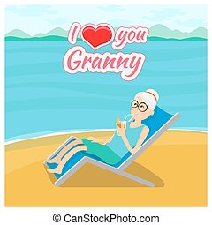 αγάπη , παππούς και γιαγιά , ημέρα , φόντο. , μικροβιοφορέας , γιαγιά , ταχυδρομώ , εσείs , κάρτα