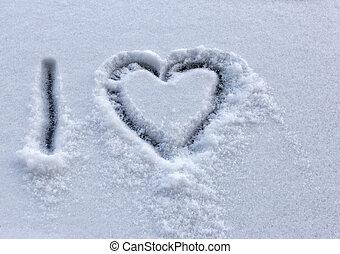 αγάπη , χιόνι , μετοχή του draw