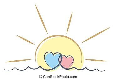 αγάπη , sun., θάλασσα
