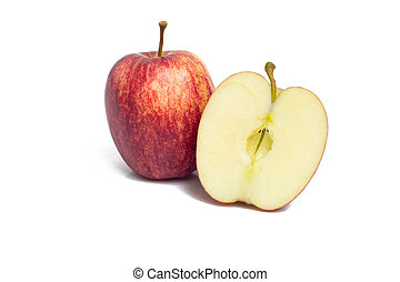 αγαθός αριστερός , μήλο , φόντο , απομονωμένος