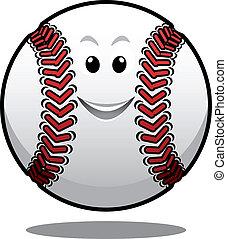αγαθός μπάλα , μπέηζμπολ , γελοιογραφία , ευτυχισμένος