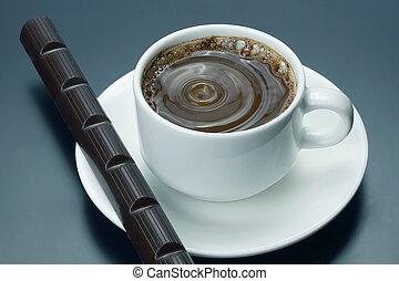 αγαθός σοκολάτα , καφέs , μαύρο , κύπελο