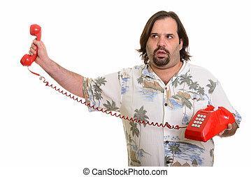 αγαπητέ μου τηλέφωνο , λίπος , καυκάσιος , ατενίζω , κράτημα , ενόχλησα , άντραs