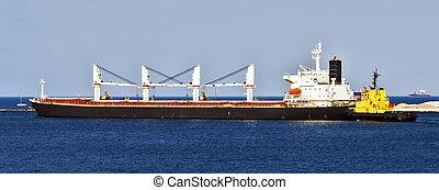 αγγείο , φορτίο , λιμάνι , θάλασσα