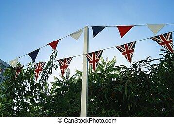 αγγλική σημαία , buntings