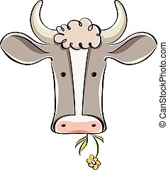 αγελάδα , head.