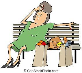 αγοραστής , κουρασμένος