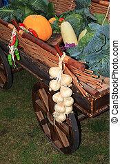 αγροτικός , λαχανικά , αγορά , κάρο