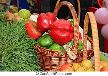 αγροτικός , πιπέρι , κόκκινο , αγορά
