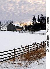 αγροτικός , χειμερινός γραφική εξοχική έκταση
