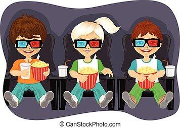 αγρυπνία , ποπ-κορν , ταινία , χαμογελαστά , μικρόκοσμος , 3d