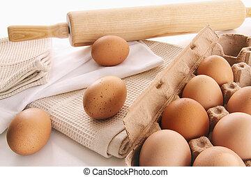 αγρόκτημα άβγαλτος , αυγά , τραπέζι