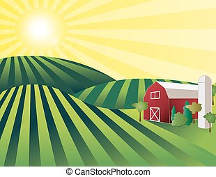 αγρόκτημα αγροτική ζωή