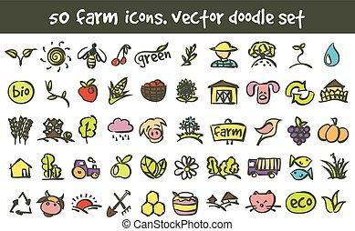 αγρόκτημα , γράφω άσκοπα , μικροβιοφορέας , θέτω , απεικόνιση