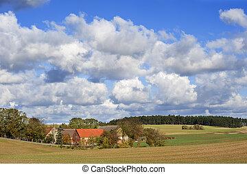 αγρόκτημα , γριά , βόρεια , γερμανία