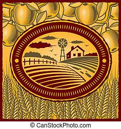 αγρόκτημα , retro