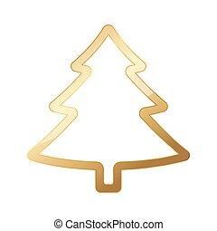 αγχόνη. , χρυσαφένιος , μικροβιοφορέας , xριστούγεννα , illustration.