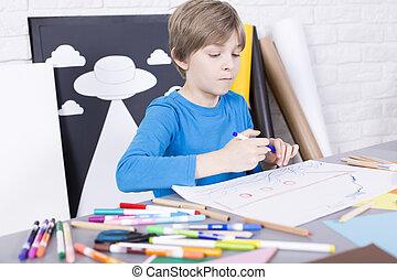 αγόρι , ακριβής , δημιουργικός
