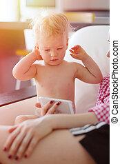 αγόρι , δικός του , γριά , οθόνη , έτος , εις , ατενίζω , smartphone, μητέρα , μωρό