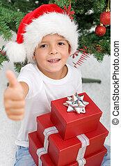 αγόρι , δικός του , ικανοποίησα , παρόν έγγραφο , xριστούγεννα , ευτυχισμένος