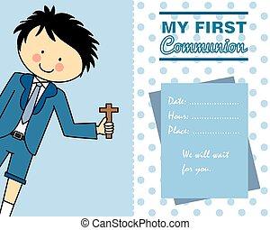 αγόρι , επαφή , κάρτα , πρώτα