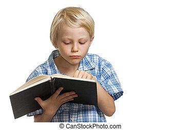 αγόρι , ηλίθιος , διάβασμα , νέος , book.