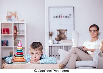 αγόρι , θεραπεία , autism, κατά την διάρκεια