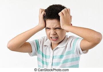 αγόρι , θυμωμένος , furious., μικρός , τρελός , σκούξιμο , ανατρέπω , παιδί