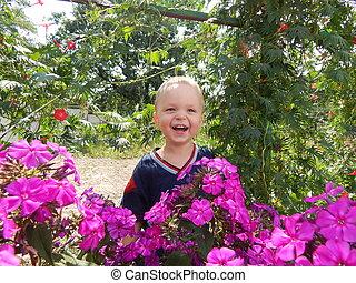 αγόρι , κήπος