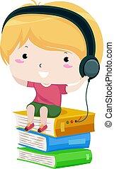 αγόρι , κεφάλι , ακούω , τηλέφωνο αγία γραφή , ήχοs , παιδί