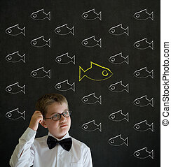 αγόρι , κεφάλι , επιχείρηση , ανεξάρτητος , σκεπτόμενος , ντύθηκα , fish, κιμωλία , αμυχή , άντραs