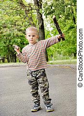 αγόρι , μικρός , ακινητοποιούμαι , μάχη , παίξιμο