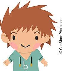 αγόρι , μικρός , διαμέρισμα , ανέμελος , icon., γελοιογραφία , παιδί