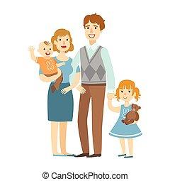 αγόρι , μικρός , ειδών ή πραγμάτων , σειρά , εικόνα , μητέρα , πατέραs , μωρό , ευτυχισμένος , κόρη , τρυφερός