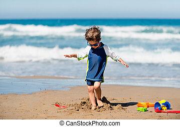 αγόρι , μικρός , κατεδαφιστικά , άμμος έπαυλη