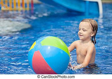αγόρι , μικρός , κερδοσκοπικός συνεταιρισμός , κολύμπι
