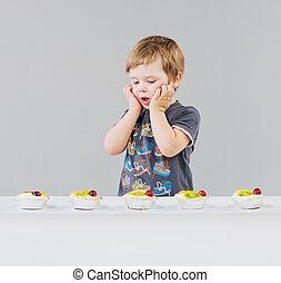 αγόρι , μικρός , λώτ , γλύκα