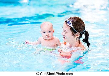 αγόρι , μικρός , μωρό , μάθημα , απολαμβάνω , κερδοσκοπικός συνεταιρισμός , κολύμπι