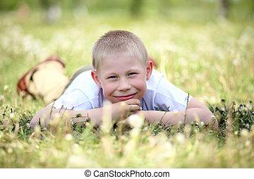 αγόρι , μικρός , πάρκο , παίξιμο