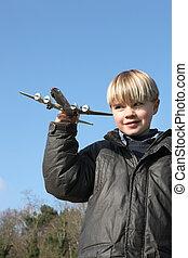 αγόρι , μικρός , παιχνίδι , παίξιμο , αεροπλάνο