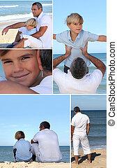 αγόρι , μικρός , παραλία , άντραs