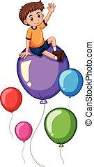 αγόρι , μπαλόνι , γραφικός