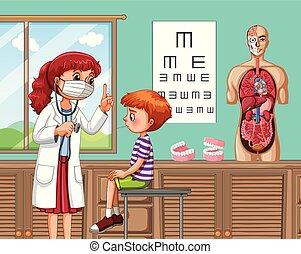 αγόρι , νοσοκομείο , άρρωστος