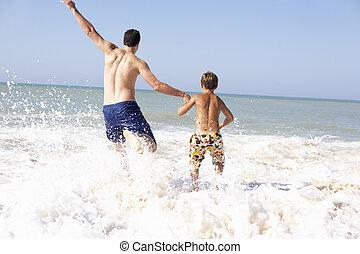 αγόρι , παίξιμο , παραλία , ανώριμος γεννήτωρ