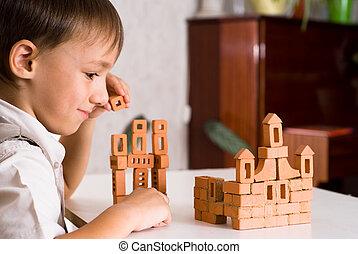 αγόρι , παιχνίδι , ωραία , κάστρο , αναπτύσσω