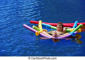 αγόρι , πλωτός , λαζάνια