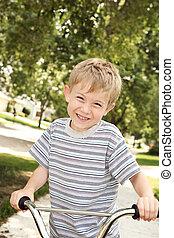 αγόρι , ποδήλατο , νέος
