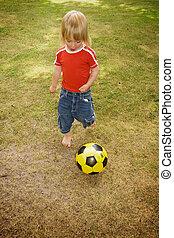 αγόρι , ποδόσφαιρο , παιδί