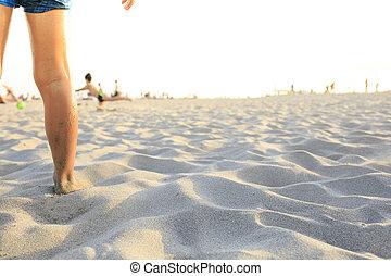αγόρι , ποδόσφαιρο , παραλία , παίξιμο